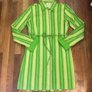 AMAZING💚Cool SOHO Jeans Striped Green Dress